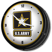 US Army: Retro Lighted Wall Clock