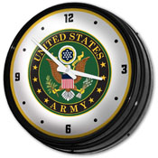 US Army: Seal - Retro Lighted Wall Clock