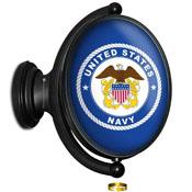 US Navy: Historic Seal - Original Oval Illuminated Rotating Wall Sign