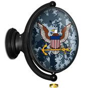 US Navy: Camo - Original Oval Illuminated Rotating Wall Sign