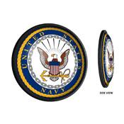 US Navy: Round Slimline Lighted Wall Sign
