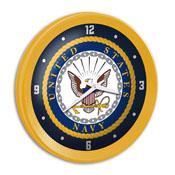 US Navy: Ribbed Frame Wall Clock