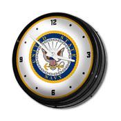 US Navy: Retro Lighted Wall Clock