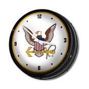 US Navy: Eagle - Retro Lighted Wall Clock