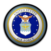 US Air Force: Seal - Modern Disc Wall Sign