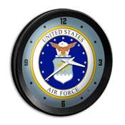US Air Force: Seal - Ribbed Frame Wall Clock