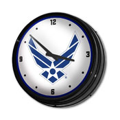 US Air Force: Retro Lighted Wall Clock