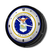 US Air Force: Seal - Retro Lighted Wall Clock