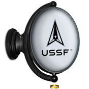 US Space Force: USSF - Original Oval Lighted Rotating Wall Sign