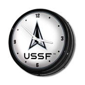 US Space Force: USSF - Retro Lighted Wall Clock