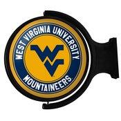 WVU - West Virginia Mountaineers  Rotating Illuminated Team Spirit Wall Sign-Round