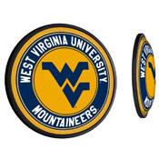 WVU - West Virginia Mountaineers  Slimline Illuminated Team Spirit Wall Sign-Round