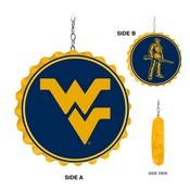 WVU - West Virginia Mountaineers  Team Spirit Bottle Cap Dangler-Yellow