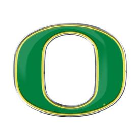 """University of Oregon Embossed Color Emblem 3.25 x 3.25 - """"O"""" Logo"""