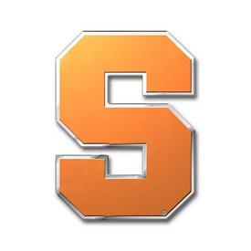 "Syracuse University Embossed Color Emblem 3.25 x 3.25 - ""Block S 'Syracuse'"" Logo"