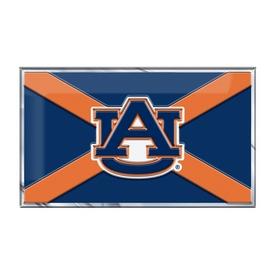 "Auburn University Embossed State Flag Emblem 2"" x 3.5"" - Primary Team Logo on State Flag Design"