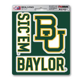 Baylor University Decal 3-pk 5 x 6.25 - 3 Various Logos / Wordmark