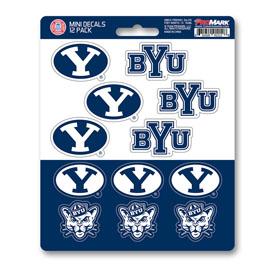 Brigham Young University Mini Decal 12-pk 5 x 6.25 - 12 Various Logos / Wordmark