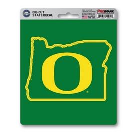 "University of Oregon State Shape Decal 5 x 6.25 - ""O"" Logo / State of Oregon"