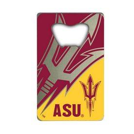 "Arizona State University Credit Card Bottle Opener 2 x 3.25 - ""Pitchfork"" Logo And ""ASU"""