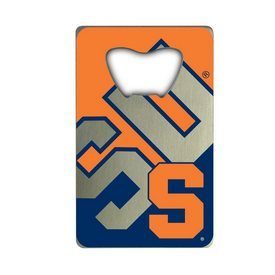 "Syracuse University Credit Card Bottle Opener 2 x 3.25 - ""S"" Primary Logo & ""SU"""