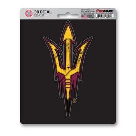 "Arizona State University 3D Decal 5 x 6.25 - ""Pitchfork"" Logo"