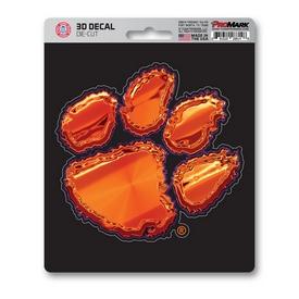 "Clemson University 3D Decal 5 x 6.25 - ""Paw Print"" Logo"