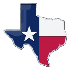 Texas, State of Embossed State Emblem 3.25 x 3.25 - Texas State Flag