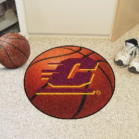 Central Michigan Basketball Mat 27 diameter