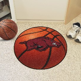 Arkansas Basketball Mat 27 diameter