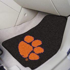 Clemson 2-piece Carpeted Car Mats 17x27