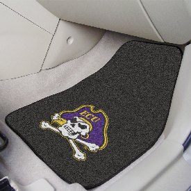 East Carolina 2-piece Carpeted Car Mats 17x27