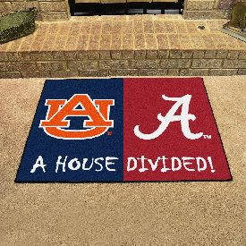 Alabama - Auburn House Divided Rugs 33.75x42.5