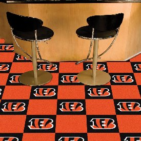 NFL - Cincinnati Bengals Carpet Tiles 18x18 tiles