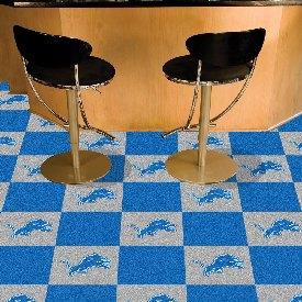 NFL - Detroit Lions Carpet Tiles 18x18 tiles