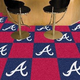 MLB - Atlanta Braves Carpet Tiles 18x18 tiles