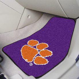 Clemson 2-piece Purple Carpeted Car Mats 17x27