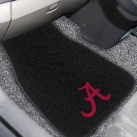 Alabama 2-piece Embroidered car Mats 18x27