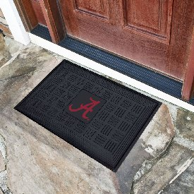 Alabama Crimson 'A' Medallion Door Mat