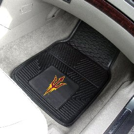 Arizona State Pitchfork Heavy Duty 2-Piece Vinyl Car Mats 17x27