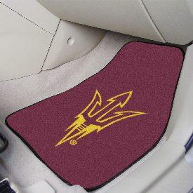 Arizona State Pitchfork 2-piece Carpeted Car Mats 17x27