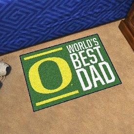 "University of Oregon Starter Mat - World's Best Dad 19""x30"""
