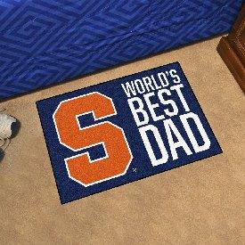 "Syracuse University Starter Mat - World's Best Dad 19""x30"""
