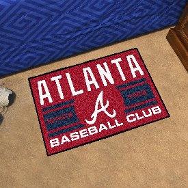 Atlanta Braves Baseball Club Starter Rug 19x30