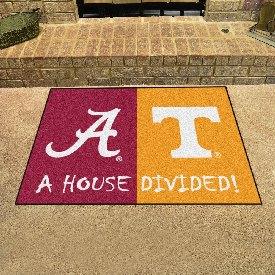 Alabama  /  Tenneessee House Divided Rug 33.75x42.5