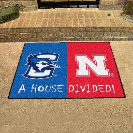 Creighton / Nebraska House Divided Rug 33.75x42.5