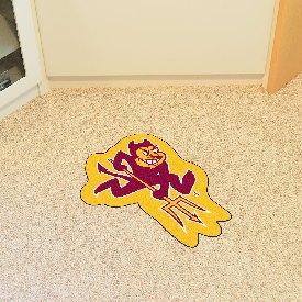 Arizona State Mascot Mat with Pitchfork Logo
