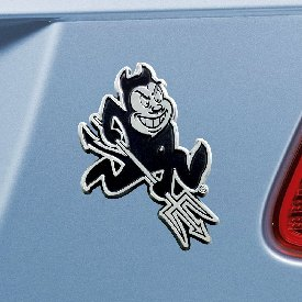 "Arizona State University Chrome Emblem 3""x3.2"""