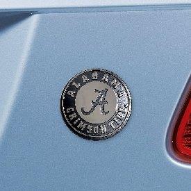 "Alabama Chrome Emblem - 3""x3.2"""