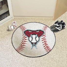 """Arizona Diamondbacks Baseball Mat - 27"""" diameter"""